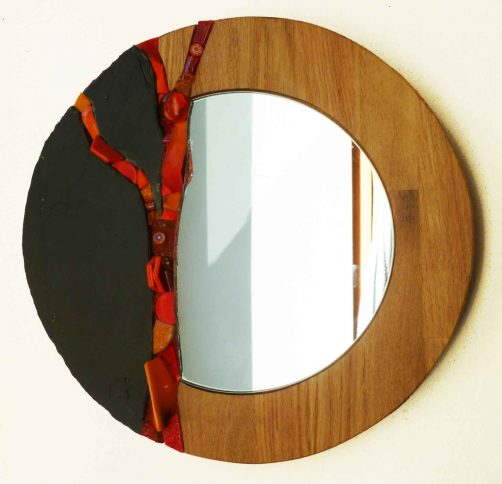 Miroir rond FUSION - ref MA19   muse.coquelicot
