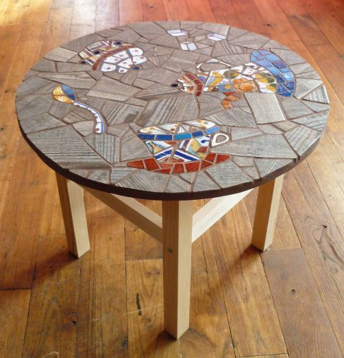 Table basse TEA-TIME cuivre   muse.coquelicot